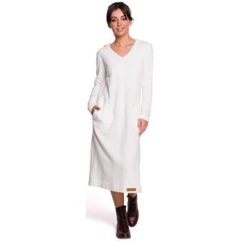 Oblečenie Ženy Dlhé šaty Be B128 Maxi šaty s kapucňou - ecru