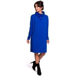 Oblečenie Ženy Krátke šaty Be B132 Šaty s vysokým golierom - kráľovská modrá