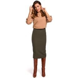 Oblečenie Ženy Sukňa Style S171 Ceruzková sukňa s vysokým pásom - khaki
