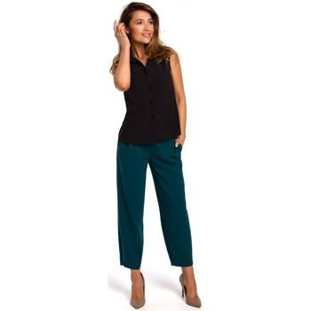 Oblečenie Ženy Blúzky Style S172 Košeľa bez rukávov - čierna