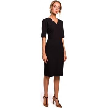 Oblečenie Ženy Krátke šaty Moe M455 Šaty s výstrihom do V - čierne