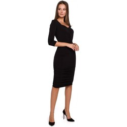 Oblečenie Ženy Krátke šaty Makover K006 Pletené šaty s volánom - tmavomodré