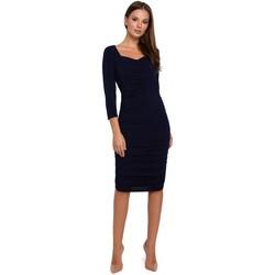 Oblečenie Ženy Krátke šaty Makover K006 Pletené šaty s volánom - červené