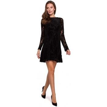 Oblečenie Ženy Šaty Makover K023 Čipkované šaty Flock - čierne