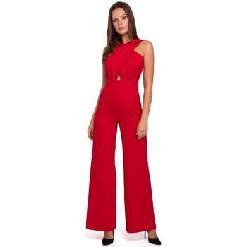 Oblečenie Ženy Módne overaly Makover K029 Kombinéza s krížom - červená