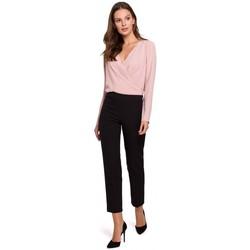 Oblečenie Ženy Nohavice Makover K035 Nohavice s elastickým pásom - čierne