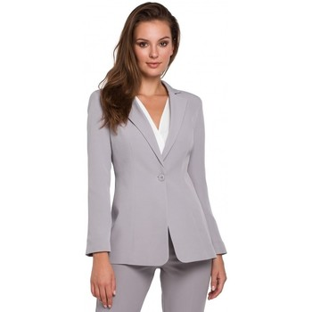 Oblečenie Ženy Oblekové saká Makover K036 Sako s jedným zadočkom - sivé