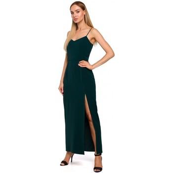 Oblečenie Ženy Dlhé šaty Moe M485 Maxi večerné šaty s vysokým rozparkom - zelené
