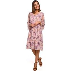 Oblečenie Ženy Krátke šaty Style S214 Šifónové šaty so spadnutým pásom - model 2