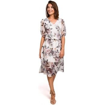 Oblečenie Ženy Šaty Style S215 Šifónové šaty s volánovým lemom - model 1