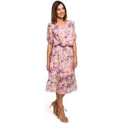 Oblečenie Ženy Šaty Style S215 Šifónové šaty s volánovým lemom - model 2