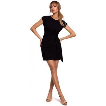 Oblečenie Ženy Krátke šaty Moe M508 Mini šaty s uzlom - čierne