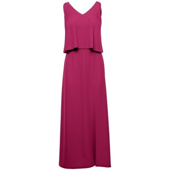 Oblečenie Ženy Dlhé šaty Makover K048 Maxi šaty s volánom - slivka