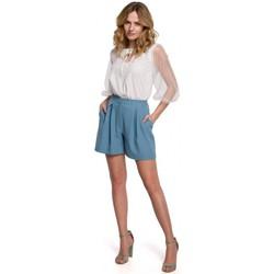 Oblečenie Ženy Šortky a bermudy Makover K049 Uvoľnené šortky - nebesky modré