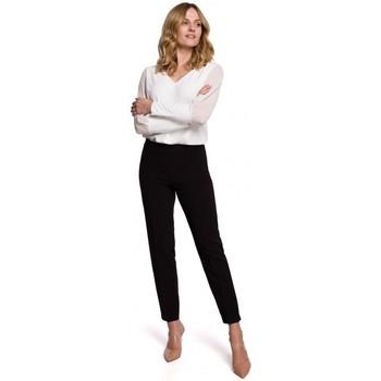 Oblečenie Ženy Nohavice Chinos a Carrot Makover K055 Slim nohavice - čierne