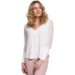Oblečenie Ženy Blúzky Makover K066 Šifonová blúzka - ecru