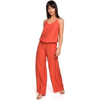 Oblečenie Ženy Módne overaly Be B155 Kombinéza so širokými nohavicami - oranžová