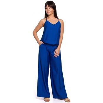 Oblečenie Ženy Módne overaly Be B155 Kombinéza so širokými nohavicami - kráľovská modrá