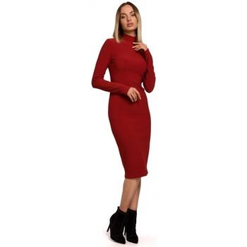 Oblečenie Ženy Dlhé šaty Moe M542 Pletené šaty s rolákom - čierne