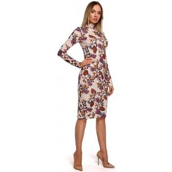 Oblečenie Ženy Dlhé šaty Moe M543 Šaty s potlačou a rolákom - model 3
