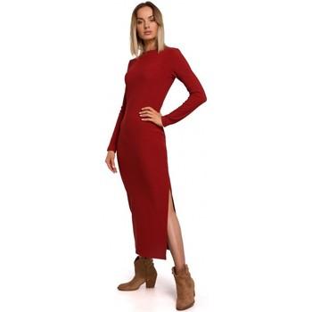 Oblečenie Ženy Dlhé šaty Moe M544 Maxi šaty s rozdelenými nohavicami - tehlovo červené