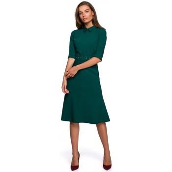 Oblečenie Ženy Krátke šaty Style S231 Obojok s opaskom s prackou - zelený