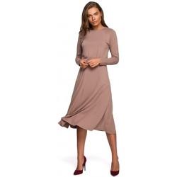 Oblečenie Ženy Dlhé šaty Style S234 Priliehavé šaty - cappuccino