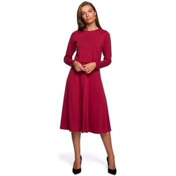 Oblečenie Ženy Dlhé šaty Style S234 Priliehavé šaty - čerešňa