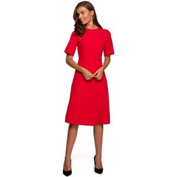 Oblečenie Ženy Krátke šaty Style S240 Zavinovacie šaty - tmavomodré