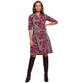 Oblečenie Ženy Krátke šaty Style S247 Zavinovacie šaty s potlačou - model 2