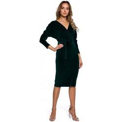Oblečenie Ženy Krátke šaty Moe M561 Zamatové zavinovacie šaty - zelené