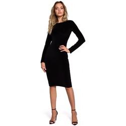 Oblečenie Ženy Krátke šaty Moe M565 Zamatové ceruzkové šaty - čierne