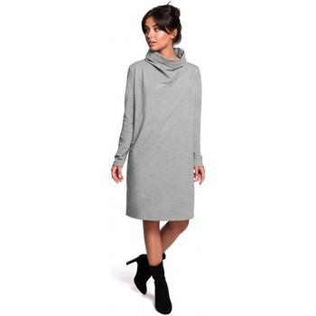 Oblečenie Ženy Krátke šaty Be B132 Šaty s vysokým golierom - sivé