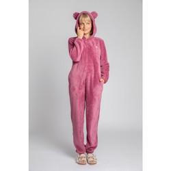 Oblečenie Ženy Módne overaly Lalupa LA006 Fluffy Knit Onepiece Onesie - heather