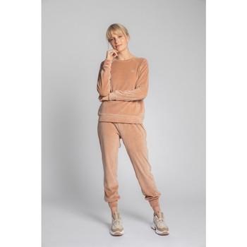 Oblečenie Ženy Svetre Lalupa LA011 Zamatový pulóver s rukávmi Reglan - béžový