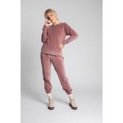 Oblečenie Ženy Svetre Lalupa LA011 Zamatový pulóver s rukávmi Reglan - krepovo ružový