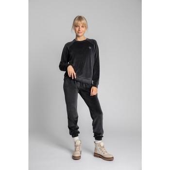 Oblečenie Ženy Mikiny Lalupa LA011 Zamatový pulóver s rukávmi Reglan - graphite