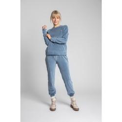 Oblečenie Ženy Mikiny Lalupa LA011 Zamatový pulóver s rukávmi Reglan - modrý