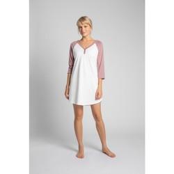 Oblečenie Ženy Pyžamá a nočné košele Lalupa LA018 Bavlnená farebná košeľa na spanie - broskyňová