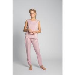 Oblečenie Ženy Blúzky Lalupa LA022 Viskózový top bez rukávov s náprsným vreckom - ružový