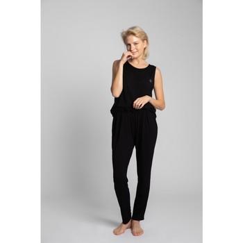 Oblečenie Ženy Pyžamá a nočné košele Lalupa LA025 Viskózové pyžamové nohavice - čierne