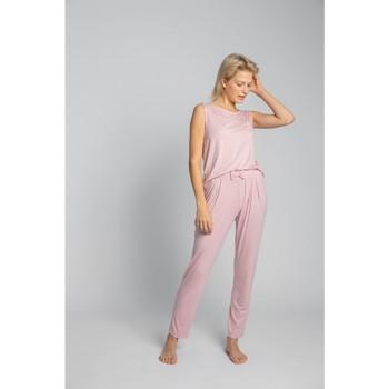 Oblečenie Ženy Pyžamá a nočné košele Lalupa LA025 Viskózové pyžamové nohavice - ružové