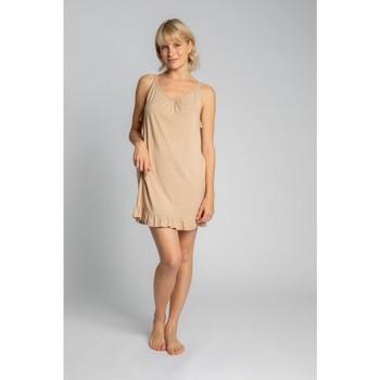 Oblečenie Ženy Pyžamá a nočné košele Lalupa LA031 Viskózová košieľka - cappuccino