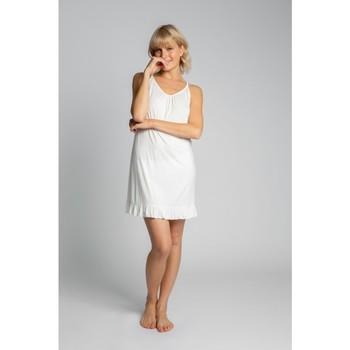 Oblečenie Ženy Pyžamá a nočné košele Lalupa LA031 Viskózová košieľka - ecru