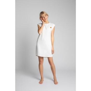 Oblečenie Ženy Krátke šaty Lalupa LA033 Rebrované bavlnené šaty na spanie - ecru
