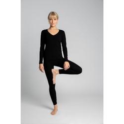 Oblečenie Ženy Legíny Lalupa LA035 Bavlnené legíny s rebrovaním - čierne