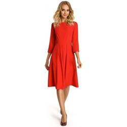Oblečenie Ženy Krátke šaty Moe M335 Šaty so záhybom vpredu - červené