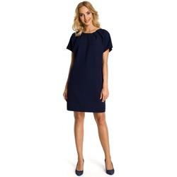 Oblečenie Ženy Krátke šaty Moe M337 Šaty na striedačku so záhybmi - tmavomodré