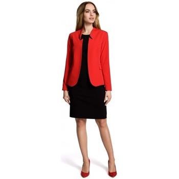 Oblečenie Ženy Oblekové saká Moe M358 Klasické sako so stojatým golierom - červené