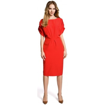 Oblečenie Ženy Krátke šaty Moe M364 Plášťové šaty s kimonovými rukávmi - červené